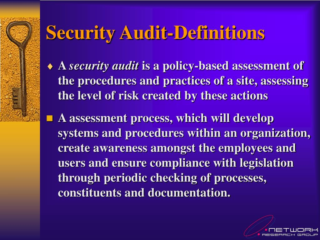 Security Audit-Definitions