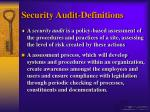 security audit definitions