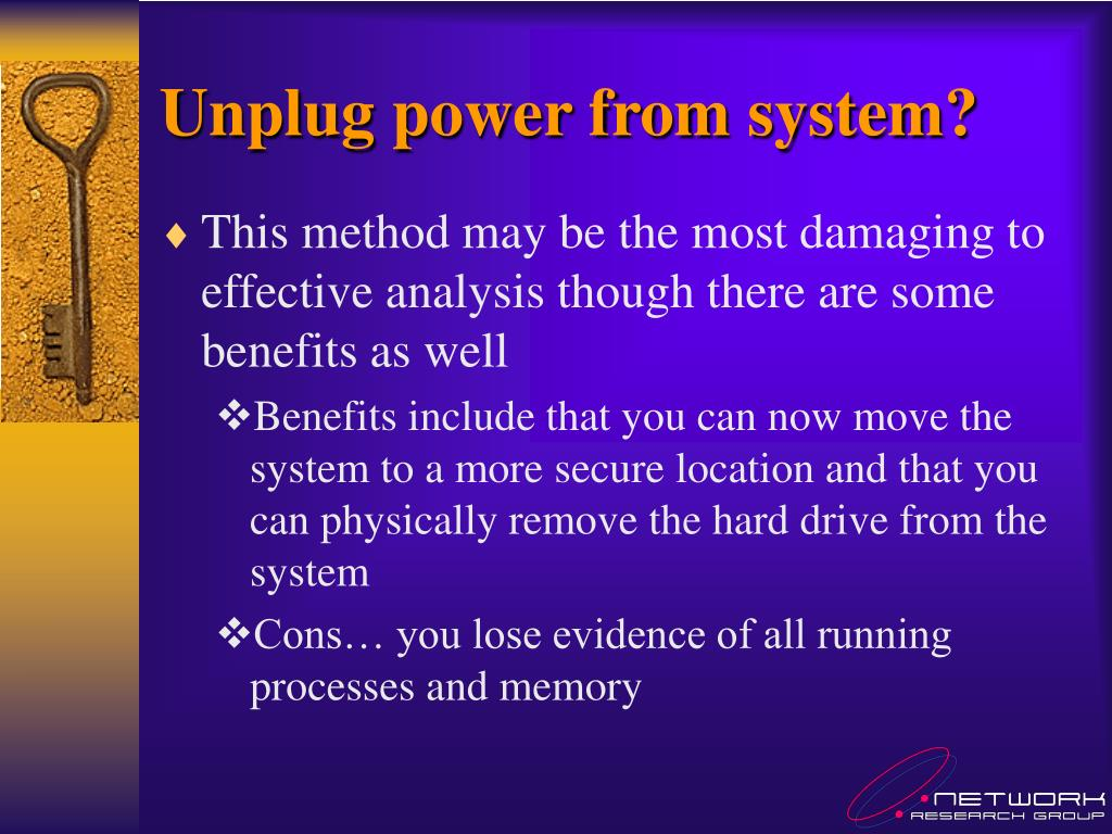 Unplug power from system?
