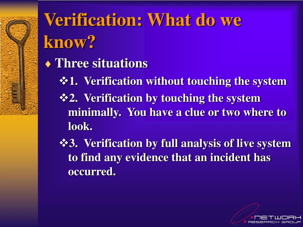 Verification: What do we know?
