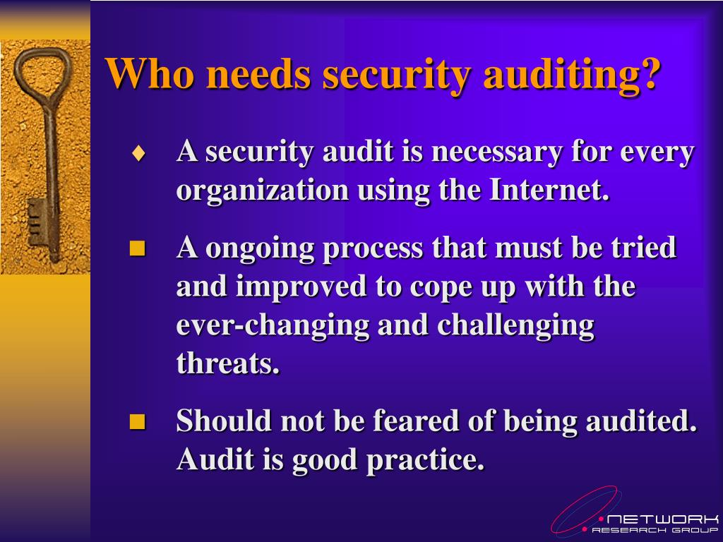 Who needs security auditing?