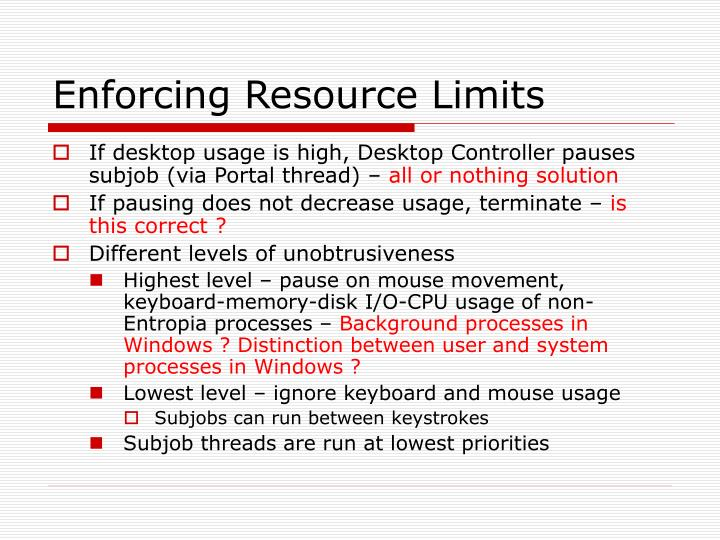 Enforcing Resource Limits
