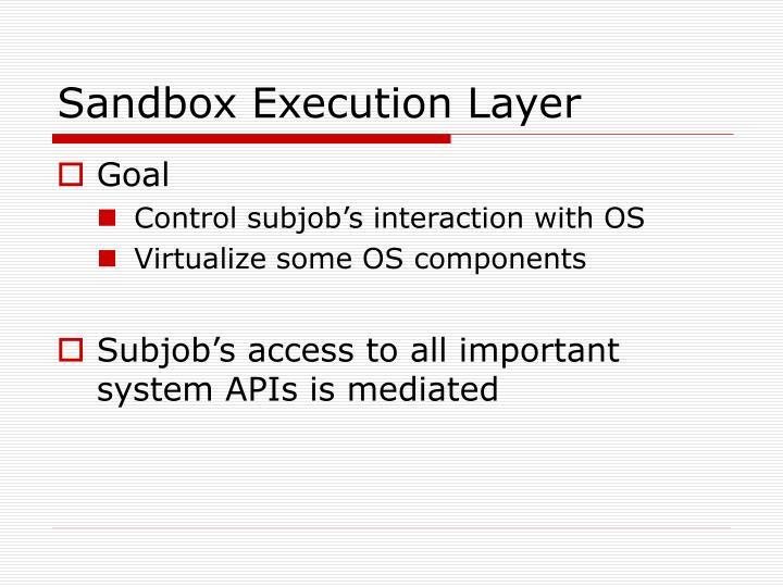 Sandbox Execution Layer