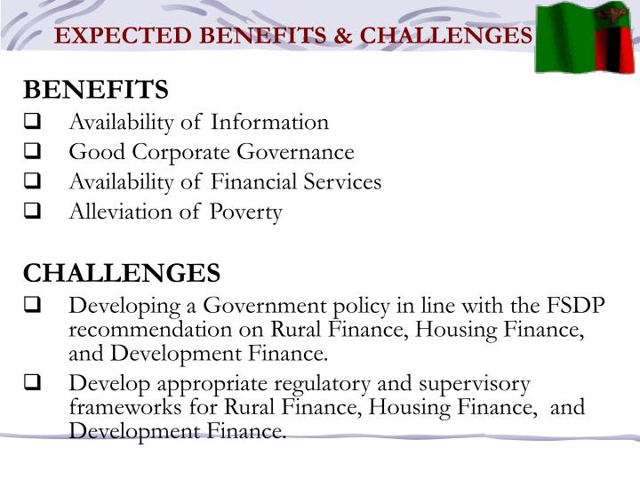 EXPECTED BENEFITS & CHALLENGES