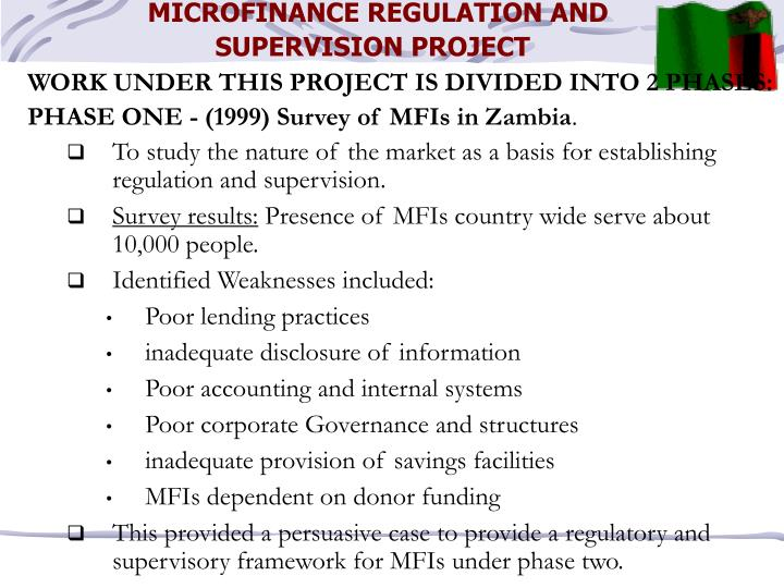 MICROFINANCE REGULATION AND SUPERVISION PROJECT