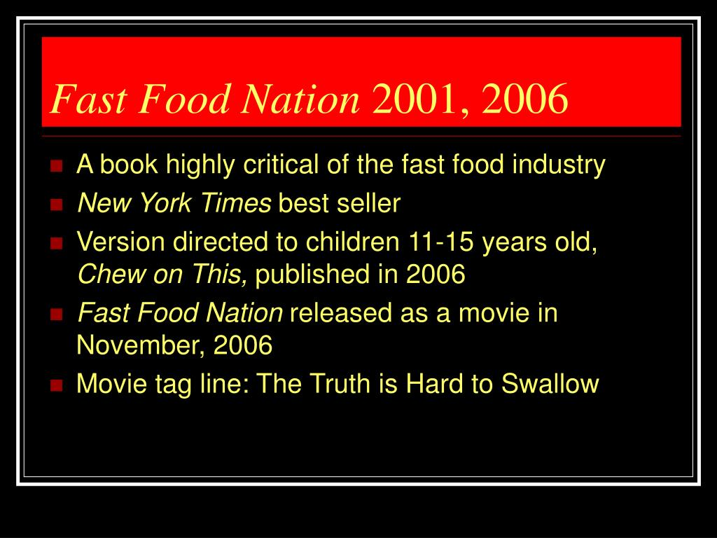 Fast Food Nation Vs Super Size Me Essay Custom Paper Sample    Fast Food Nation Vs Super Size Me Essay