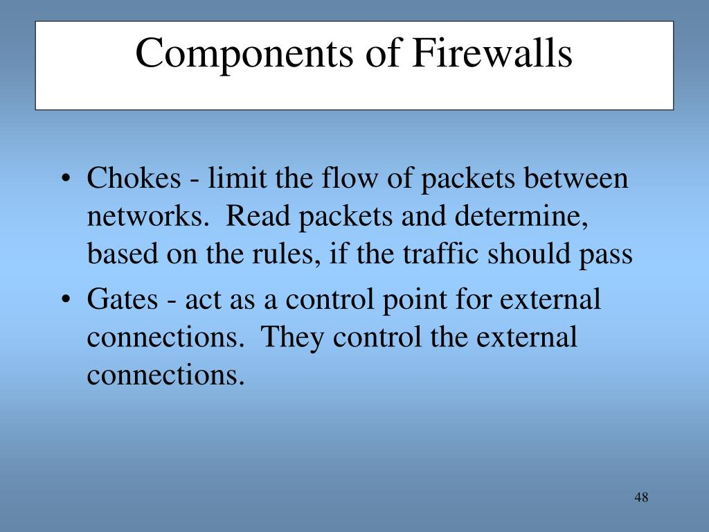 Components of Firewalls