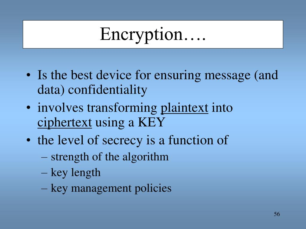 Encryption….