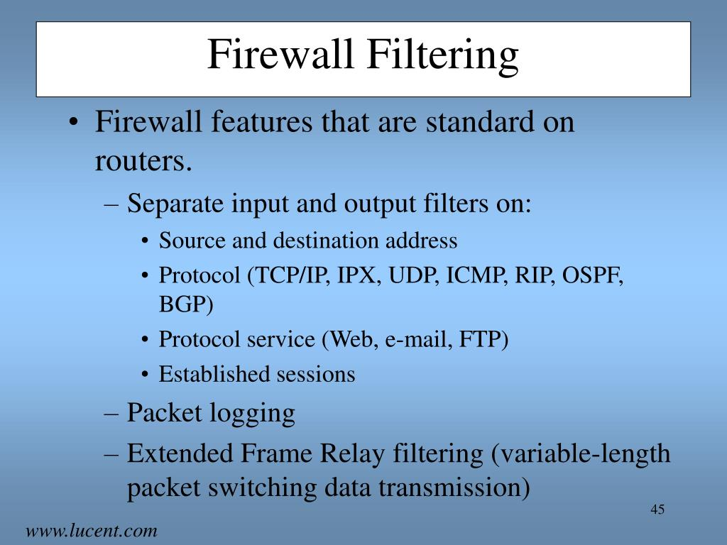 Firewall Filtering