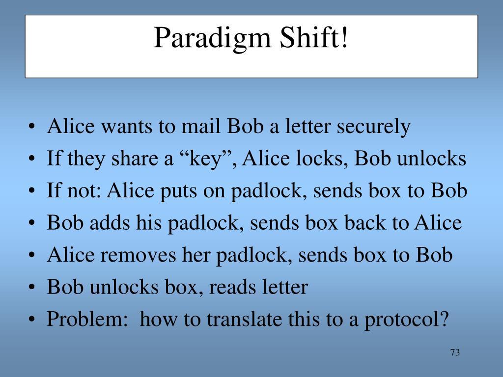 Paradigm Shift!
