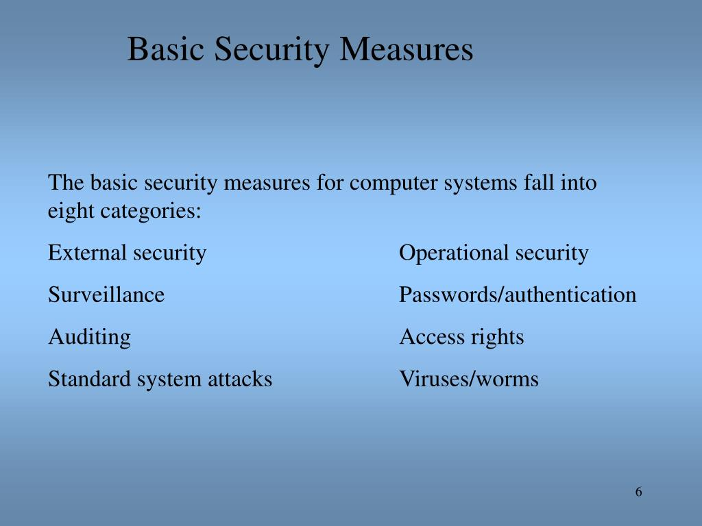 Basic Security Measures