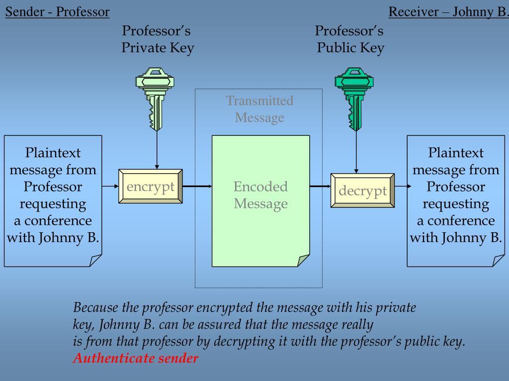 Sender - Professor