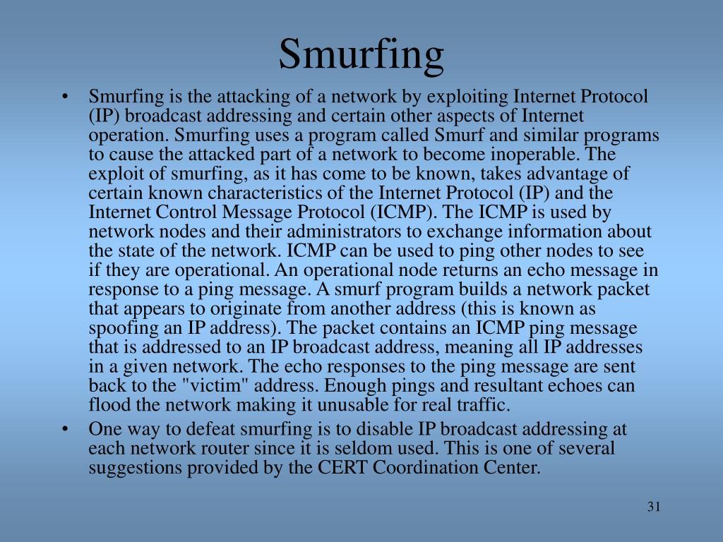 Smurfing
