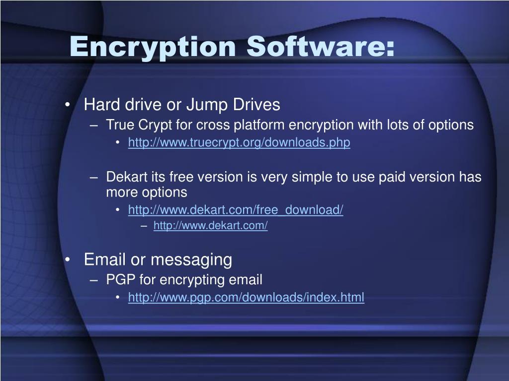 Encryption Software: