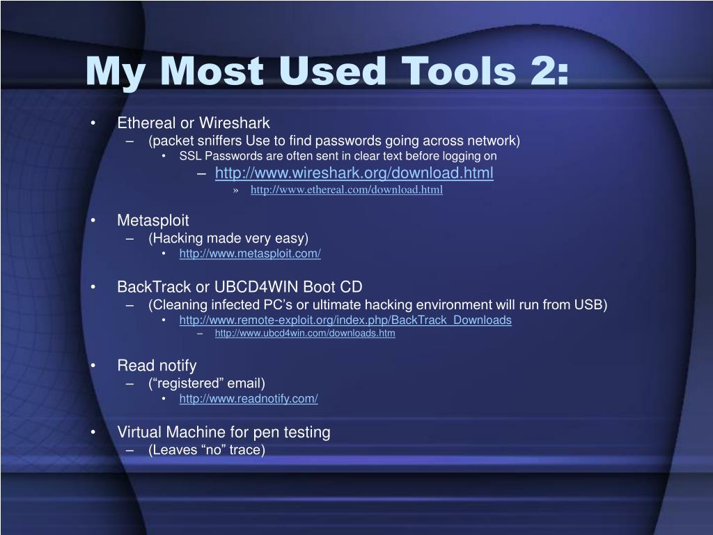 My Most Used Tools 2: