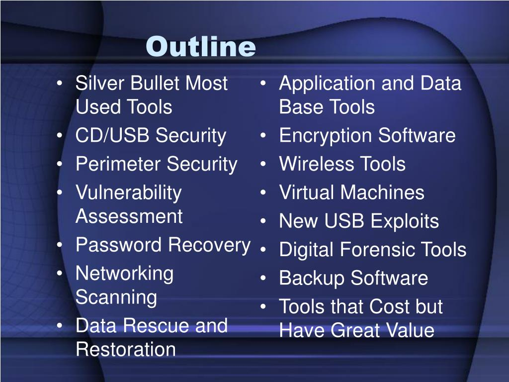Application and Data Base Tools