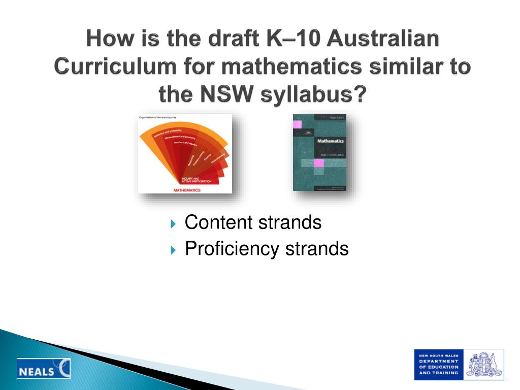 How is the draft K–10 Australian Curriculum for mathematics similar to the NSW syllabus?