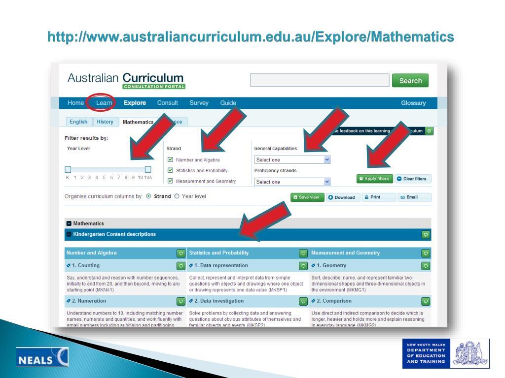 http://www.australiancurriculum.edu.au/Explore/Mathematics