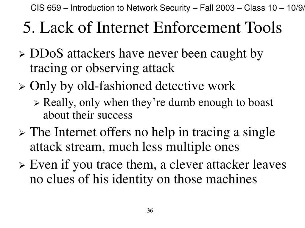 5. Lack of Internet Enforcement Tools