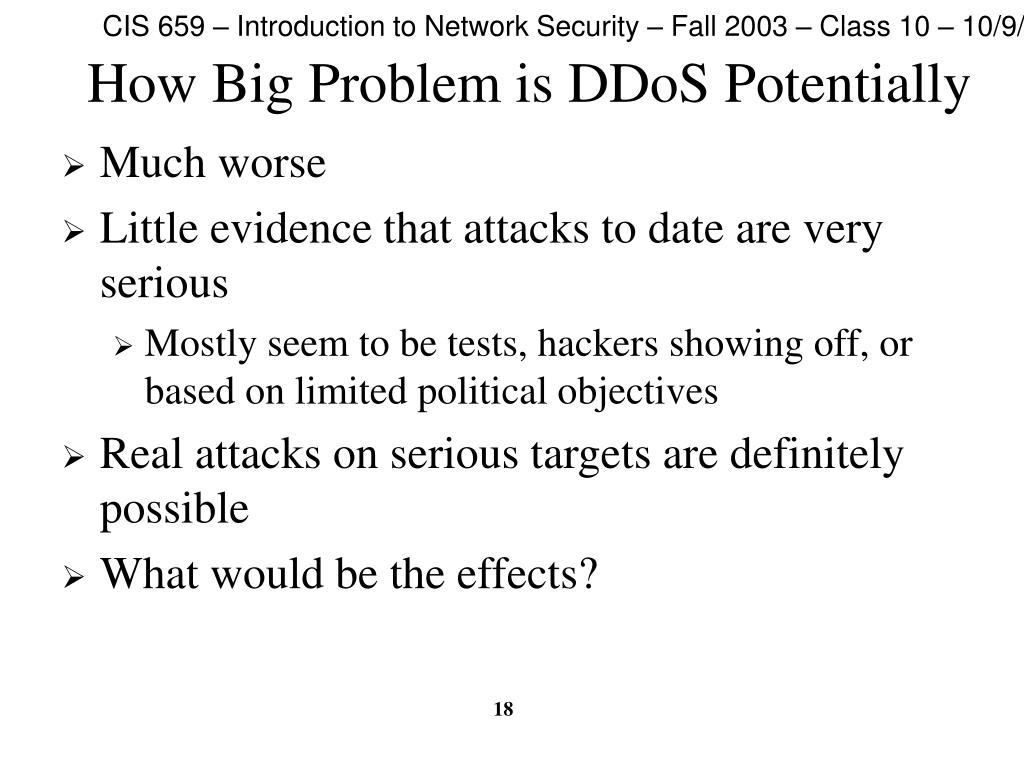 How Big Problem is DDoS Potentially