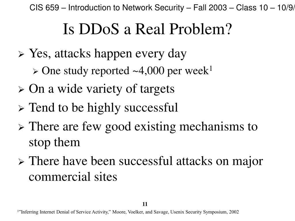 Is DDoS a Real Problem?