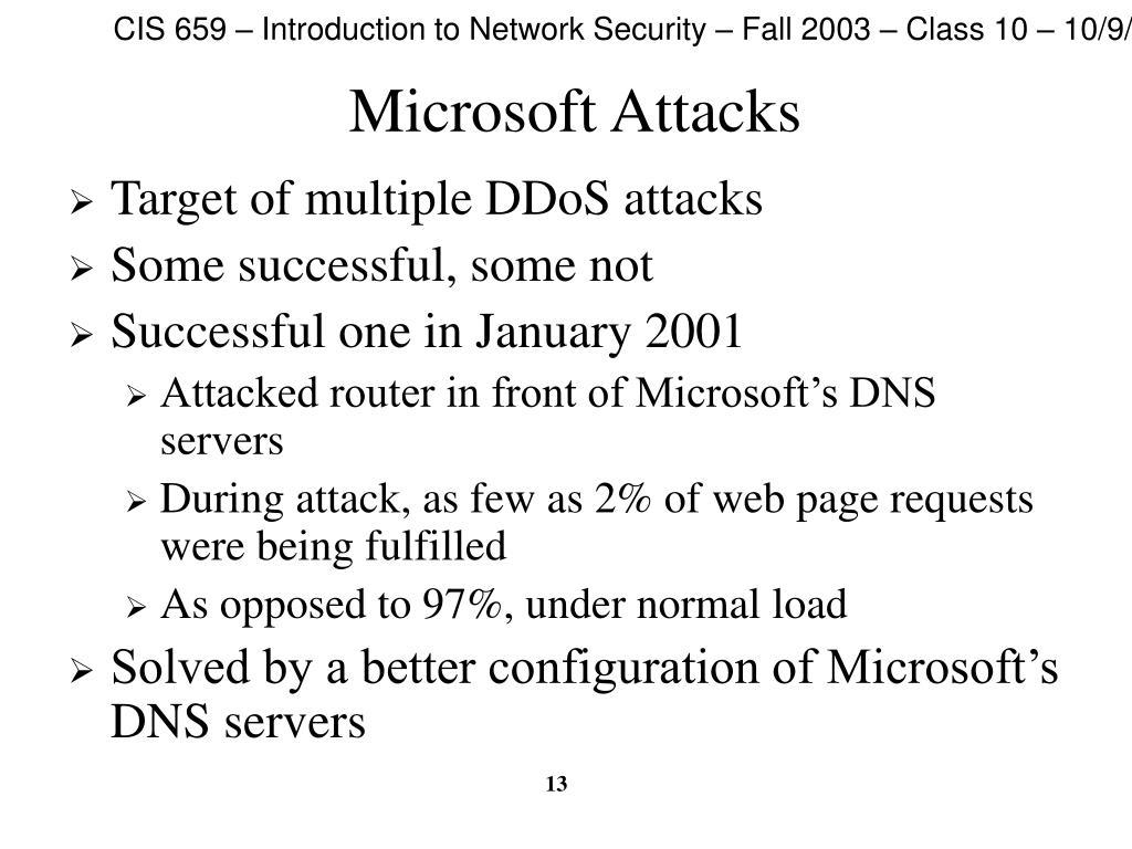 Microsoft Attacks