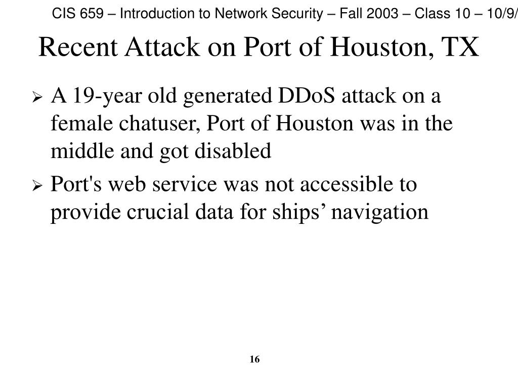 Recent Attack on Port of Houston, TX