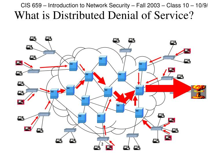 What is distributed denial of service2