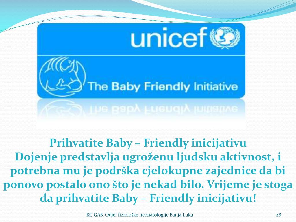 Prihvatite Baby – Friendly inicijativu