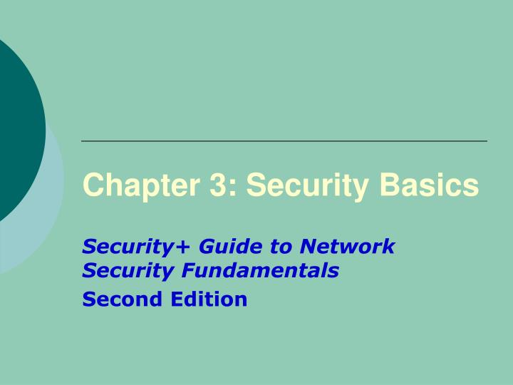 Chapter 3 security basics