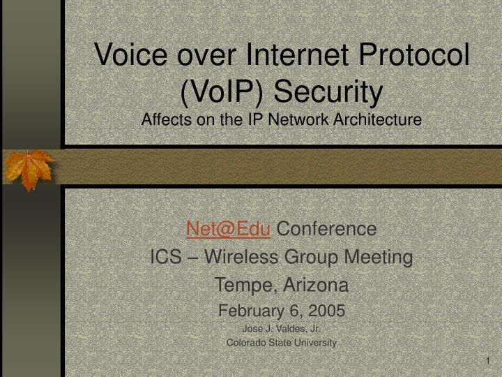 Voice over internet protocol voip security affects on the ip network architecture