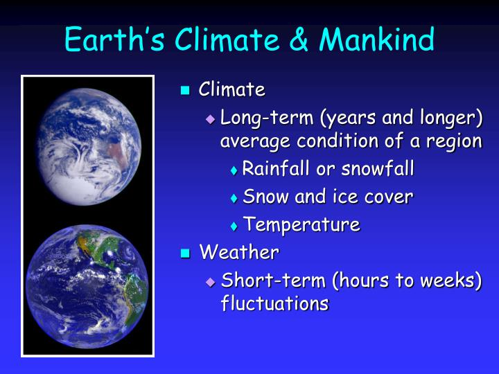 Earth s climate mankind