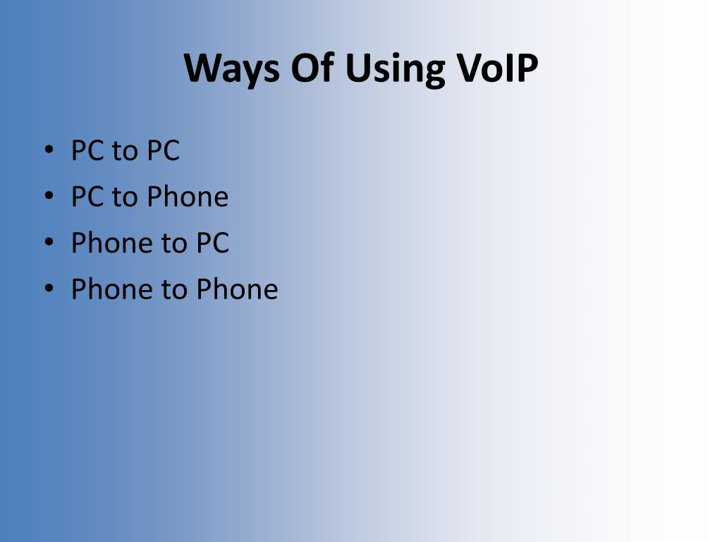 Ways Of Using VoIP