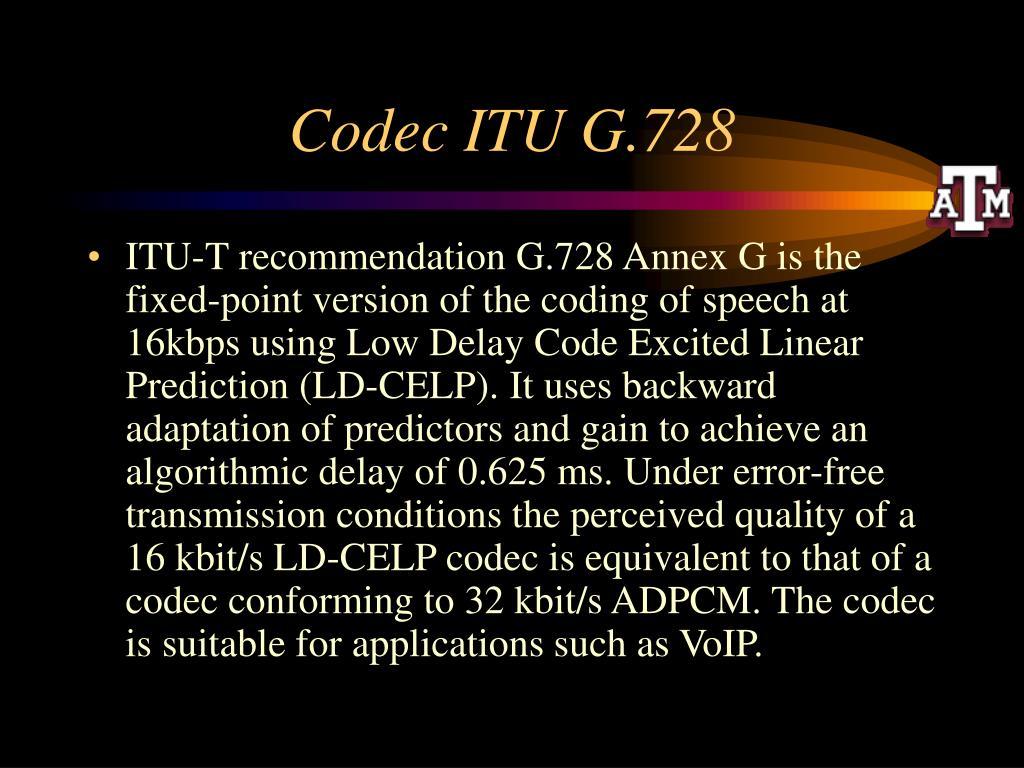 Codec ITU G.728