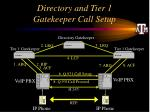directory and tier 1 gatekeeper call setup