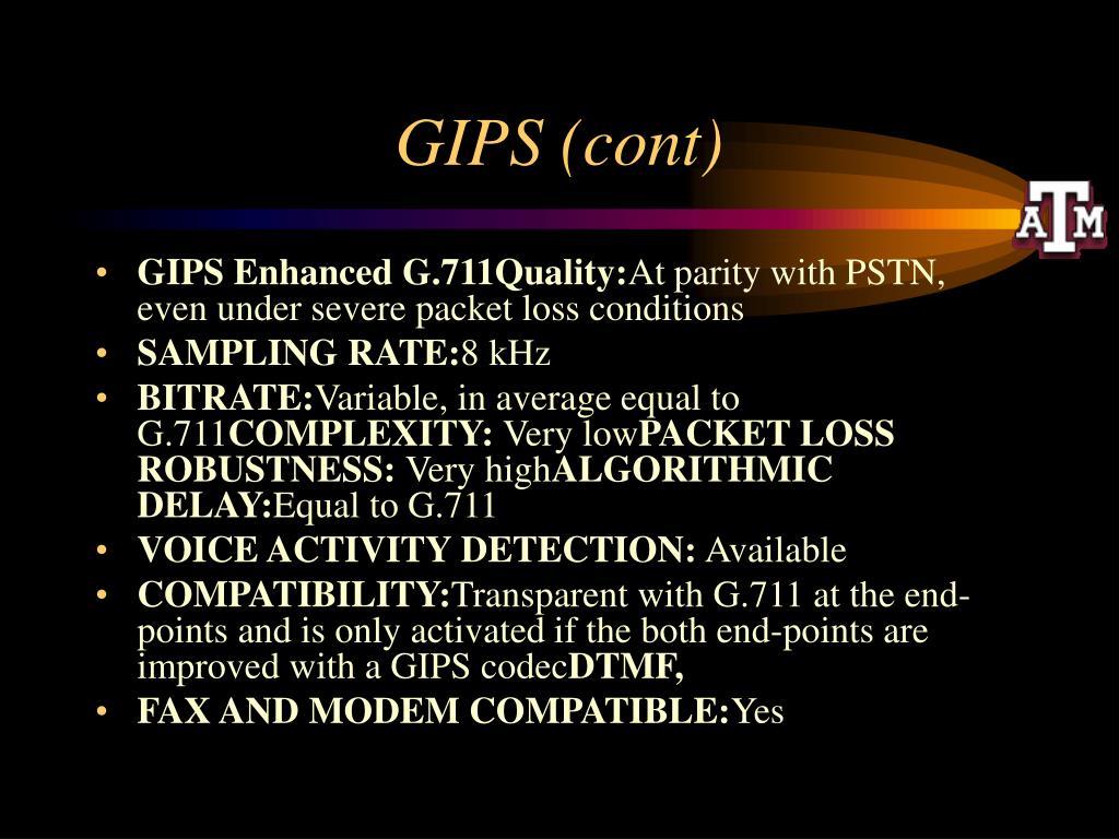 GIPS (cont)