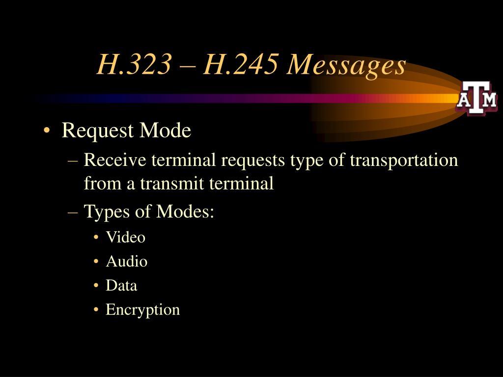 H.323 – H.245 Messages