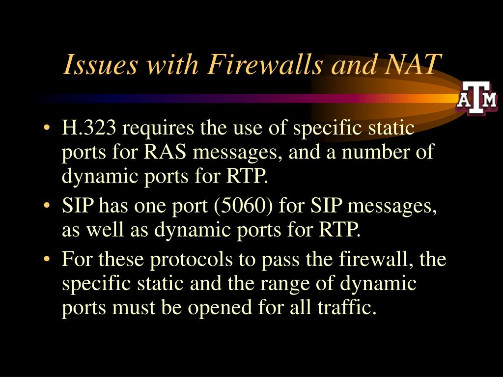 Issues with Firewalls and NAT