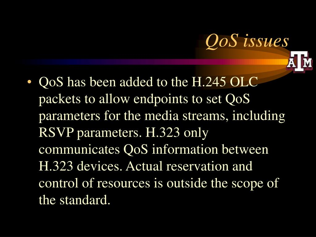 QoS issues