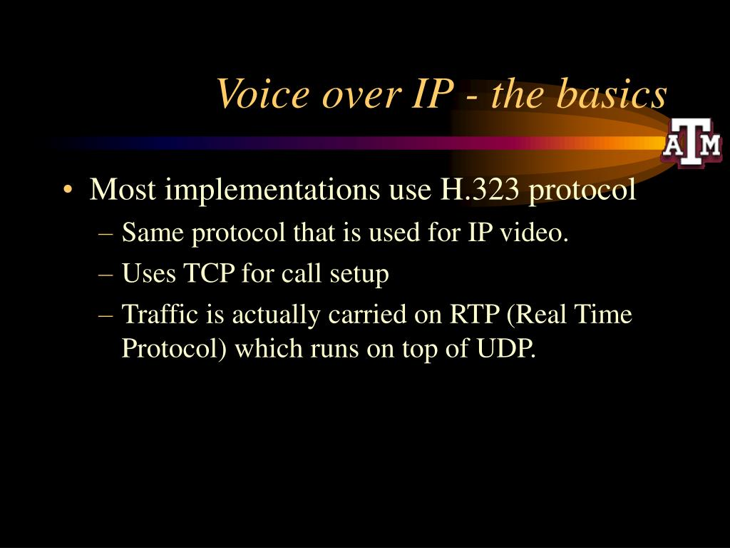 Voice over IP - the basics