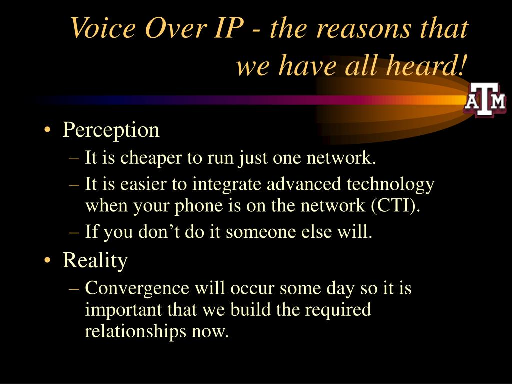 Voice Over IP - the reasons that we have all heard!