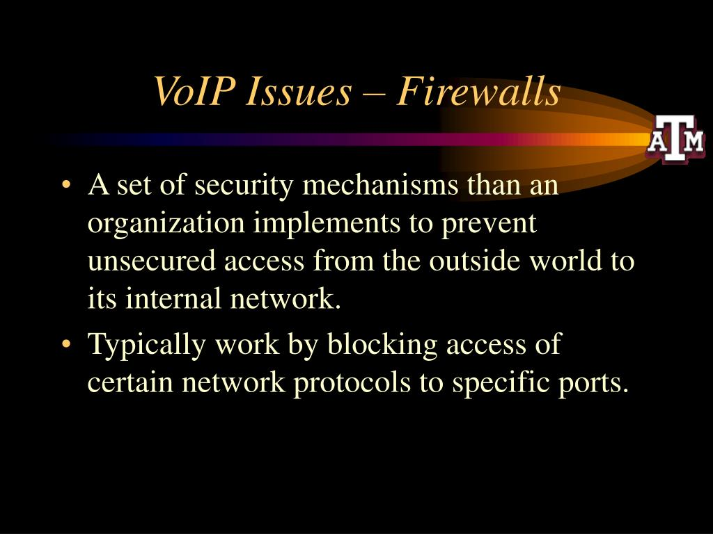 VoIP Issues – Firewalls