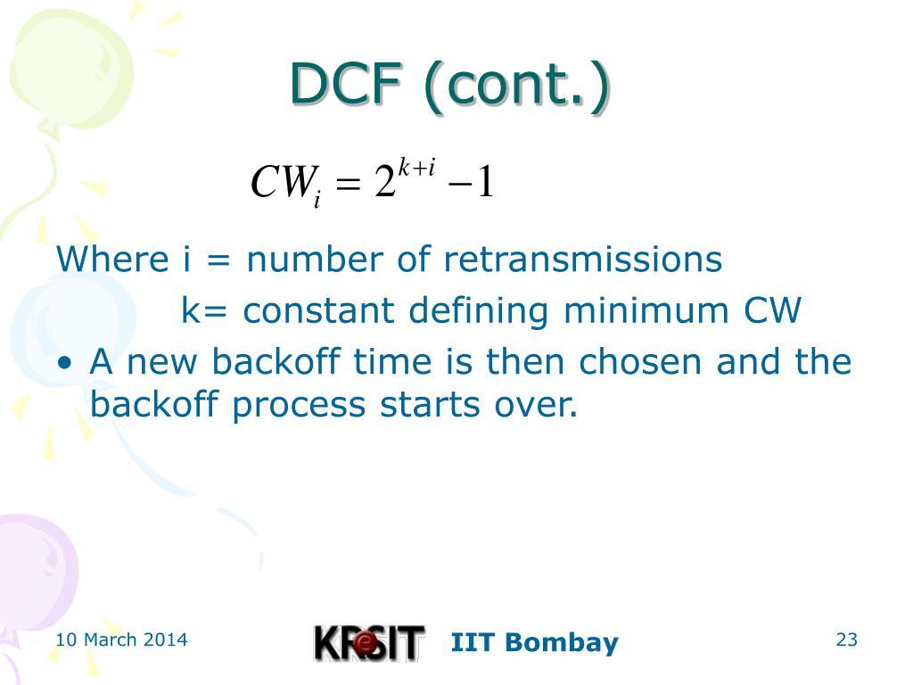 DCF (cont.)