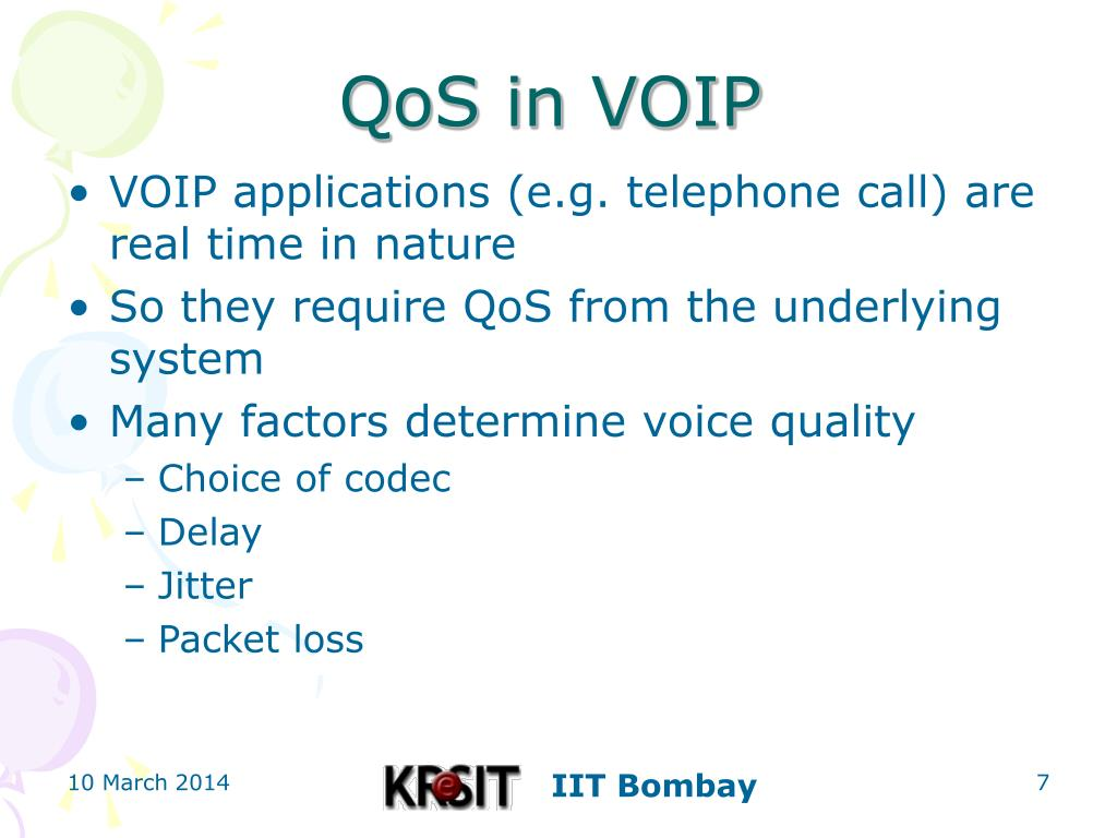 QoS in VOIP