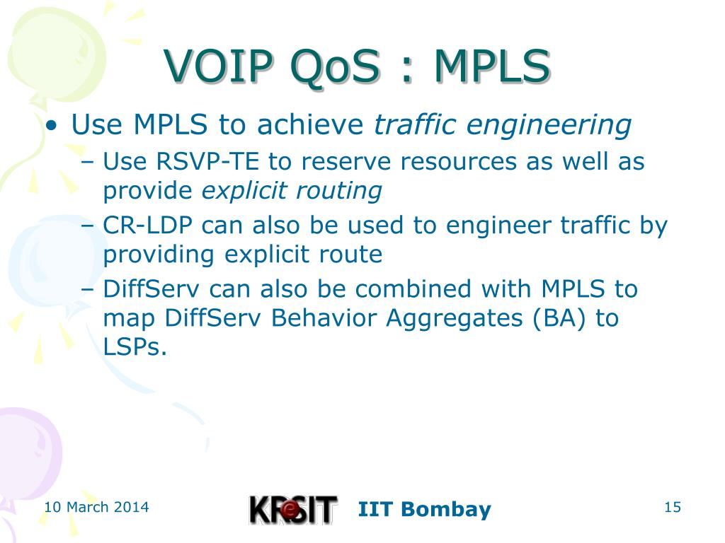 VOIP QoS : MPLS