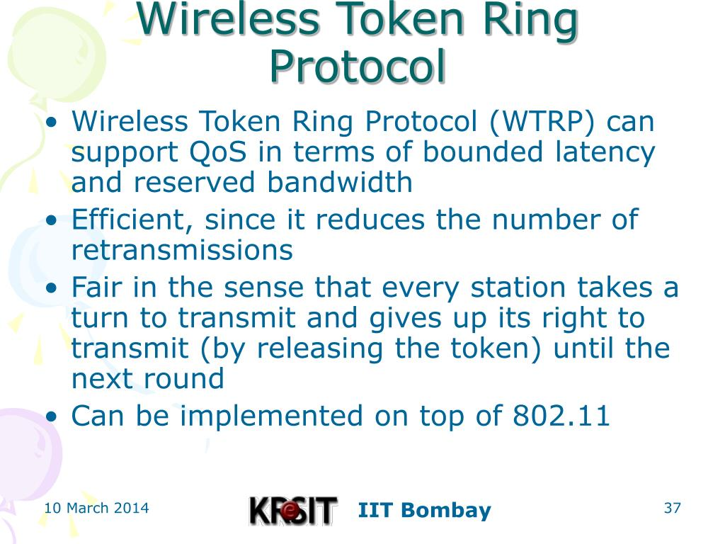 Wireless Token Ring Protocol