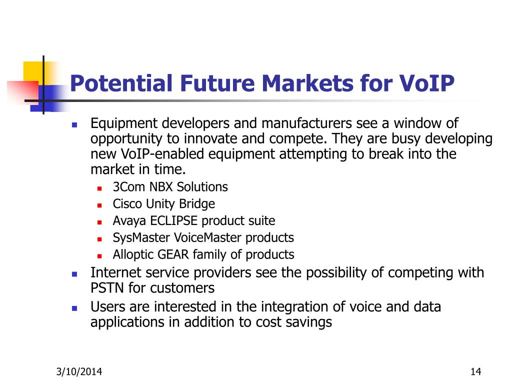 Potential Future Markets for VoIP