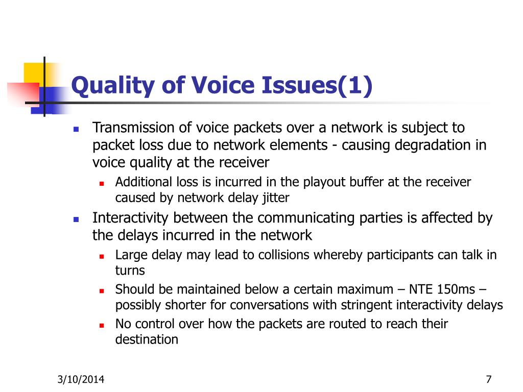 Quality of Voice Issues(1)