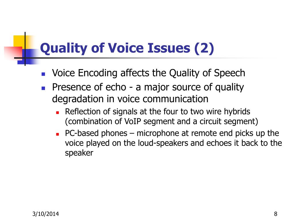 Quality of Voice Issues (2)
