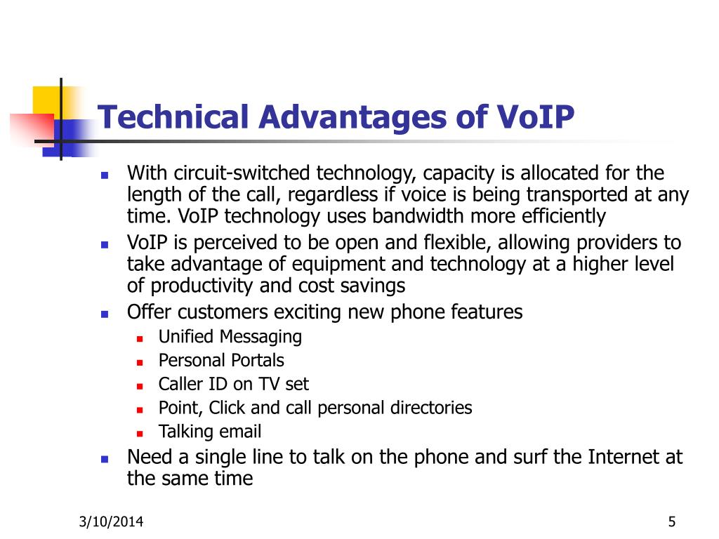 Technical Advantages of VoIP